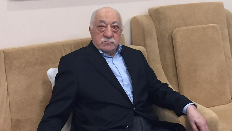 Fethullah Gülen, hier in zijn huis in Pennsylvania. Beeld Afp