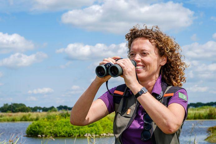 Boswachter Jenny van Leeuwen.