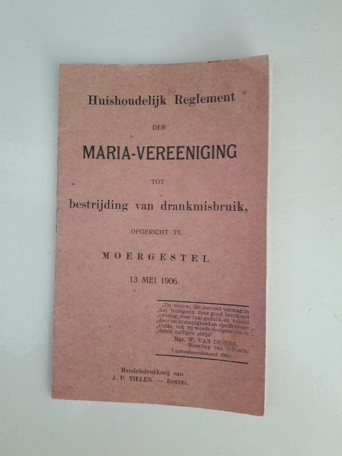 Lidmaatschapsboekje van Marie Timmermans van de Maria-Vereeniging 'tot bestrijding van drankmisbruik'