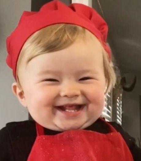 Zo schattig: de 1-jarige Kobe is de nieuwe favoriete chef-kok op internet