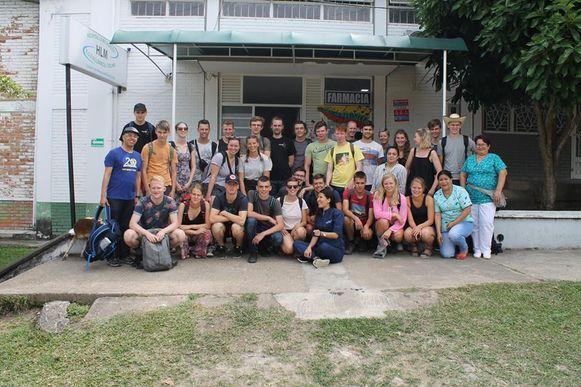 Deze groepsfoto werd vorig jaar in Villarica genomen.