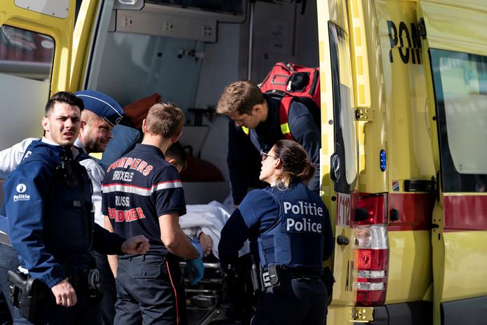 Foto ter illustratie. Belgische hulpdiensten in actie tijdens een incident.