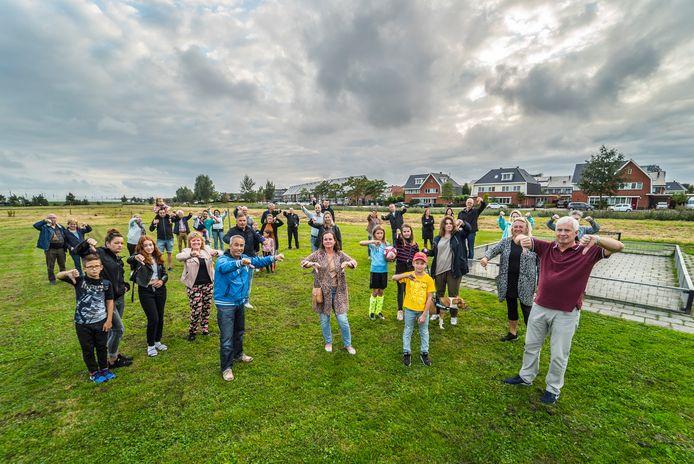 Bewoners zijn tegen de plannen voor de bebouwing veld tegenover hun huis