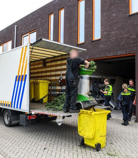 Hennepkwekerij op Bodegraafs bedrijventerrein opgerold