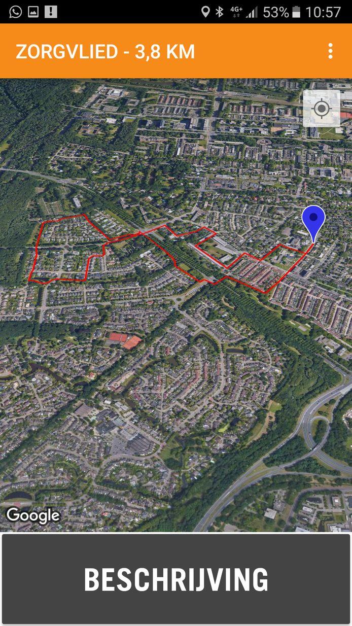 De wandelingen door Tilburg zijn via de app op verschillende manieren te zien.