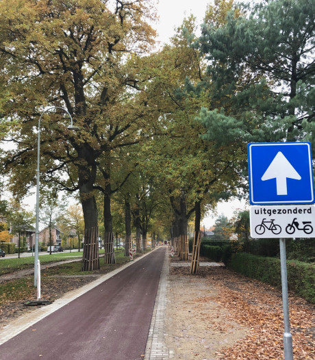 Het rode asfalt ligt er, fietsstraat Uden klaar voor opening