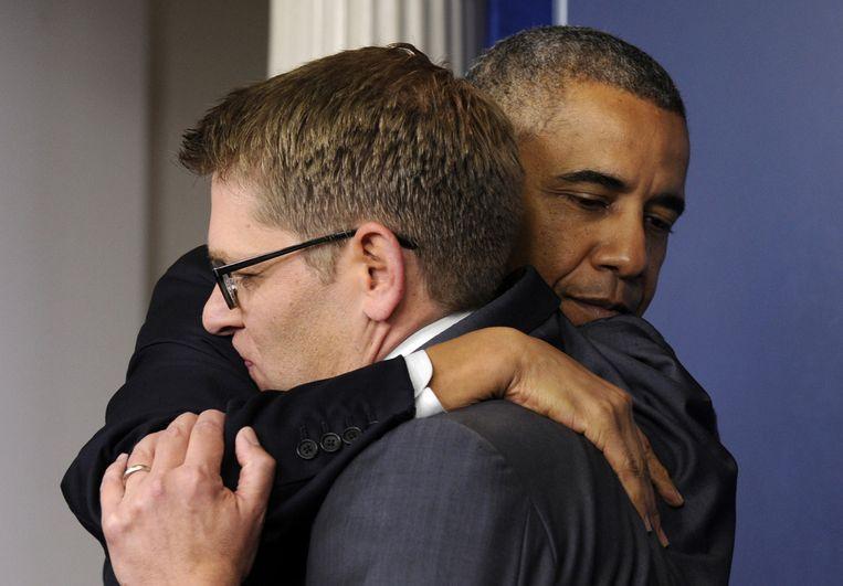 Een emotioneel afscheid met VS-president Barack Obama.