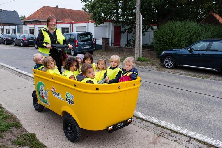 In de Stint kunnen tot tien kleuters tegelijk vervoerd worden.