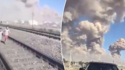 VIDEO. Munitiedepot ontploft in Kazachstan: beelden tonen hoe kinderen hand in hand rennen voor hun leven