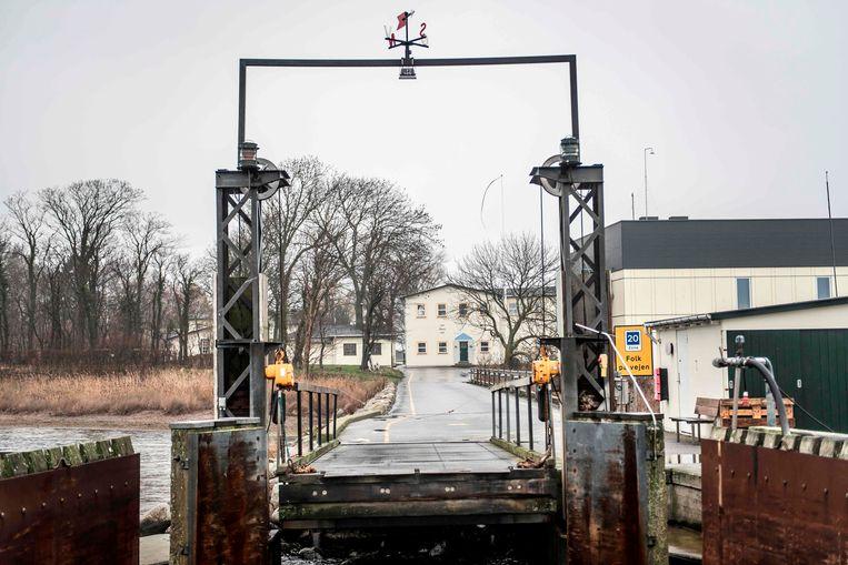 De aanlegplaats van de veerboot Beeld AFP