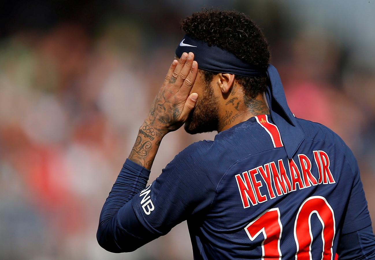 Neymar n'a semble-t-il plus envie d'être vu avec le maillot du PSG sur le dos.