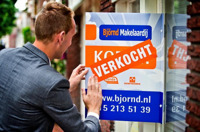 De gemiddelde huizenprijs steeg vorig jaar tot boven de 3 ton.