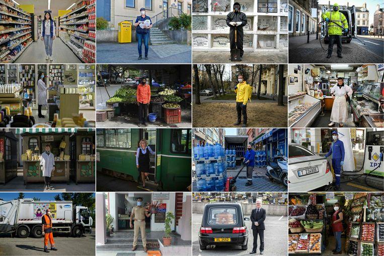 Vitale beroepen in verschillende landen.  Beeld AFP