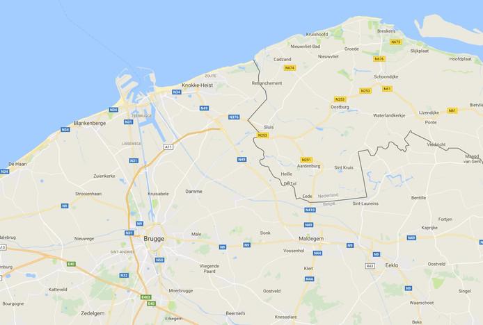 De A11 bij Knokke