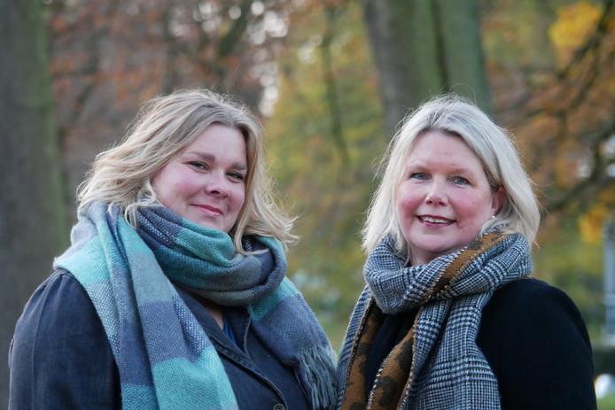 De hoogste nieuwkomers op de lijst van het CDA: Alinda Fredriks (links) en José Bonenberg-Slagter.