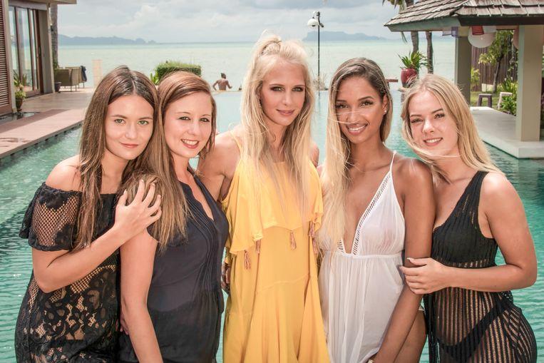 Dit zijn de vrouwelijke wederhelften - naast presentatrice Annelien Coorevits - die aan 'Temptation Island' 2018 zullen deelnemen.