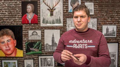 """'Iedereen Beroemd' te gast bij tekenwonder Djordy: """"Ik hoop van tekenen mijn beroep te kunnen maken"""""""
