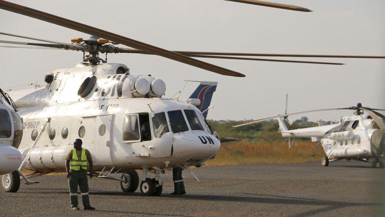 Een Mi-18-vrachthelikopter van de Verenigde Naties. (Archiefbeeld) Beeld ap