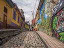 Veel muren in het oude centrum van Bogotá zijn beschilderd.