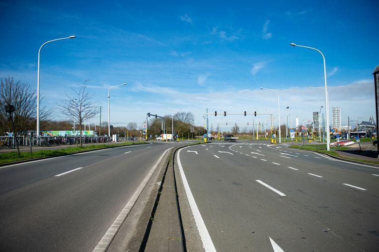 De singel in Antwerpen.