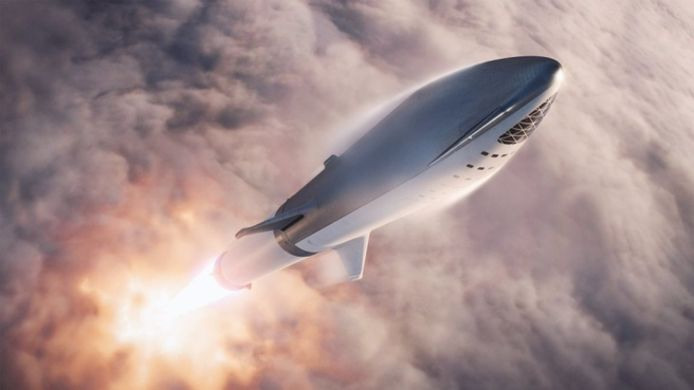 De Spaceship van SpaceX