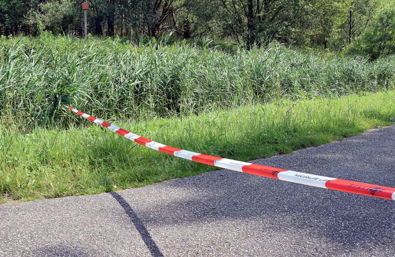 De plaats in Westdorpe waar de vrouw werd gevonden.