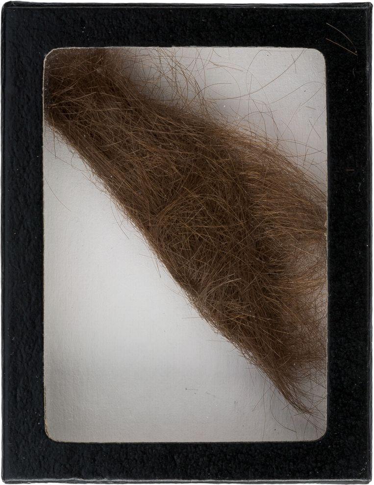 De geveilde haarlok van Lennon. Beeld ap