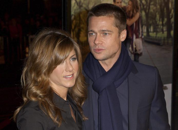 Brad Pitt en Jennifer Aniston tijdens hun huwelijk. In 2005 ging het stel uit elkaar.