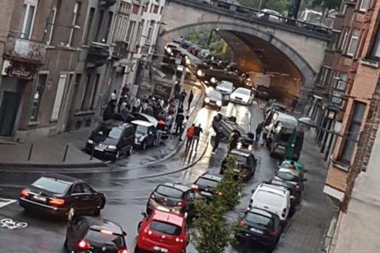REPRO: Ongeval op Helmetsesteenweg Schaarbeek.
