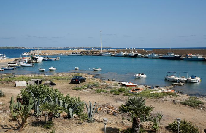 De haven waar de explosie plaatsvond.