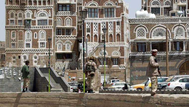 Rebellen in Sanaa, de hoofdstad van Jemen. Beeld afp