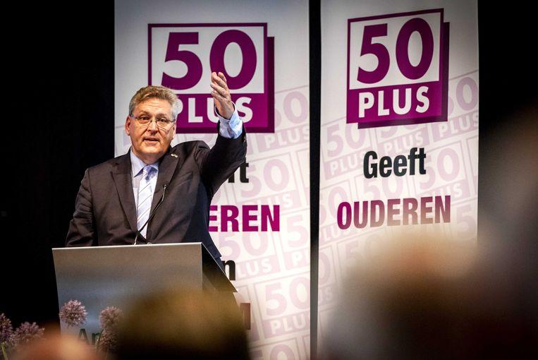 Henk Krol tijdens een ledenvergadering van 50Plus Beeld ANP