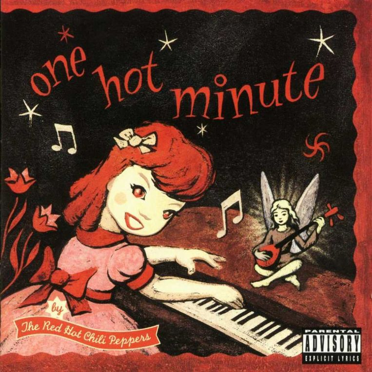 5. Red Hot Chili Peppers: One Hot Minute. Ontwerp Mark Ryden. Beeld .