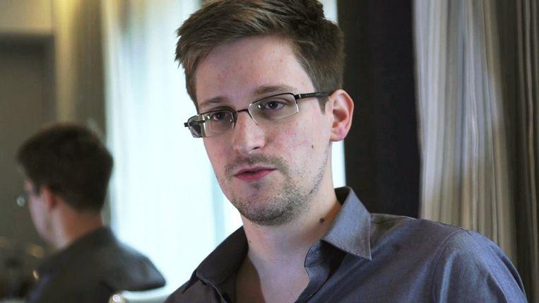 Edward Snowden. Beeld null