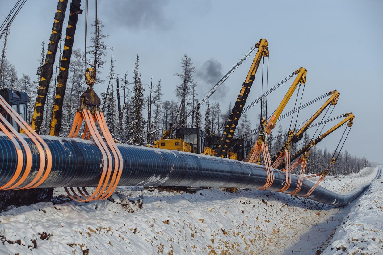 De Power of Siberia is de eerste gaspijpleiding tussen Rusland (energie-exporteur nr 1) en China (energiegebruiker nr 1). Beeld Max Avdeev