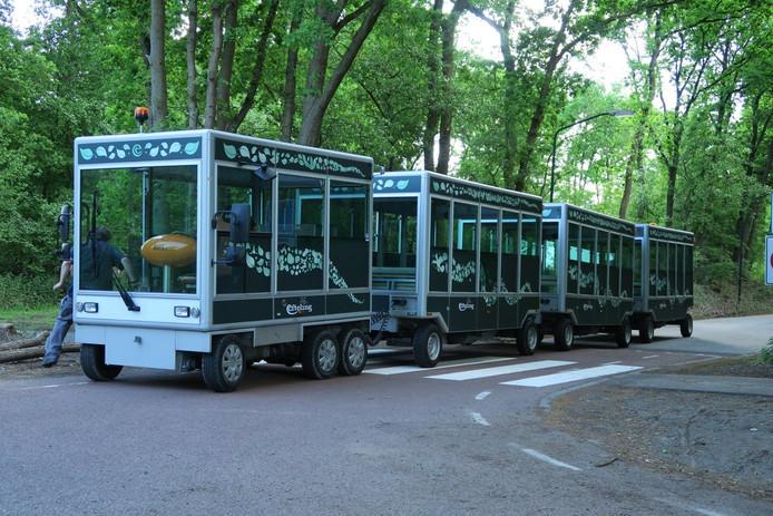 Het nieuwste Efteling-treintje, de Soios SunShuttle.