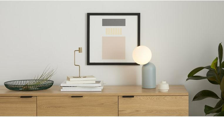 Tafellamp Vetro, 59 euro.