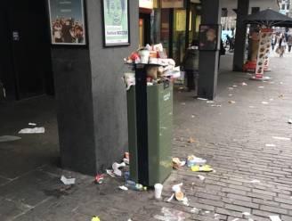 Binnenstad krijgt extra vuilbakken na puinhoop van vorig weekend