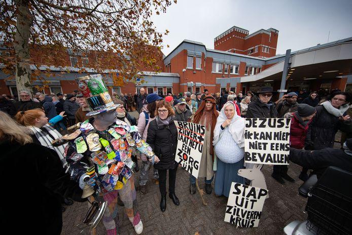 Protestactie voor een goede en volwaardige ziekenhuisvoorziening in Lelystad, in november 2018.