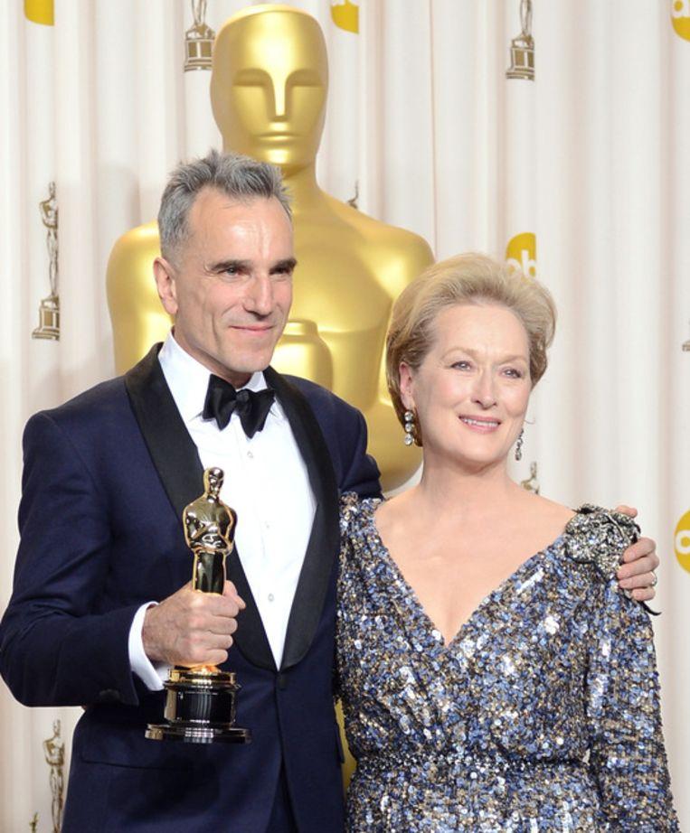 Daniel Day-Lewis won een Oscar voor zijn vertolking van president Lincoln. Beeld getty