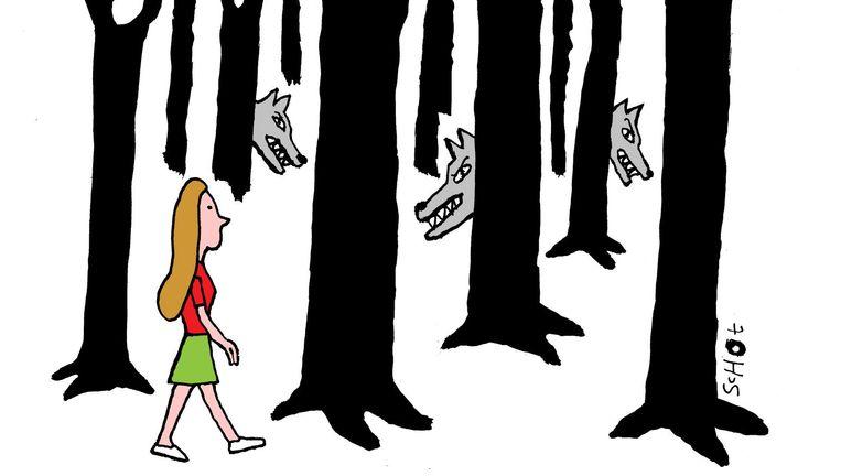Joke Brasser naar aanleiding van de zaak-Savannah en de zaak-Romy: 'Alle 14-jarige meisjes in Nederland groeien op in een in wezen seksistische maatschappij.' Beeld Bas van der Schot / de Volkskrant