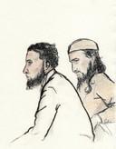 Syriëgangers Waïl el A. (links) en Nadeem S.