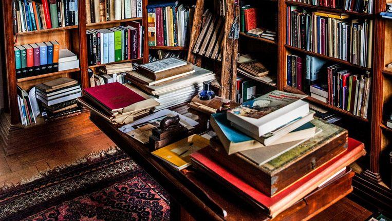 Een klein deel van de bibliotheek. Beeld Aurélie Geurts