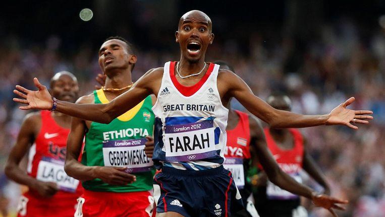 De BBC volgde een jaar lang atletiekkampioen Mo Farah. Beeld reuters