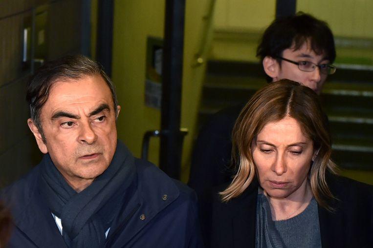 Voormalig Renault-topman Carlos Ghosn en zijn vrouw Carole Ghosn.