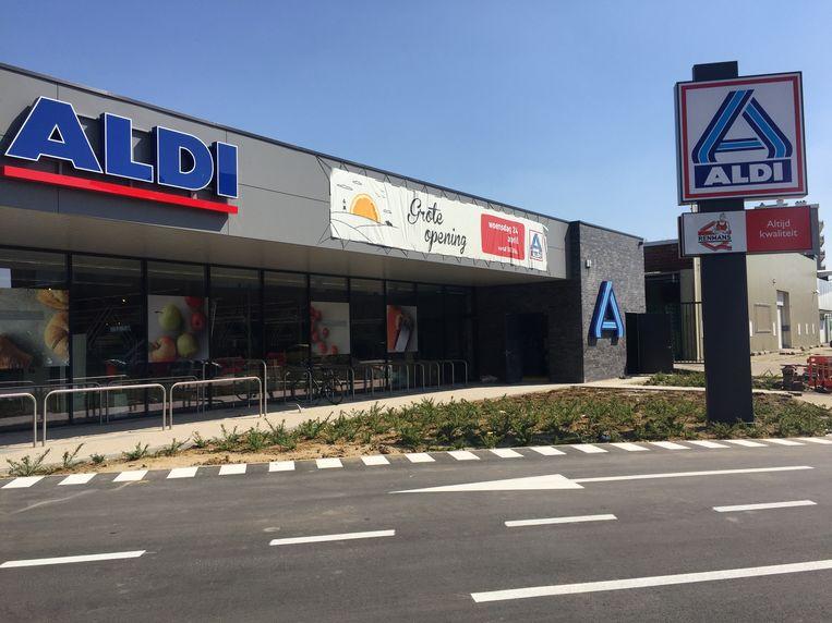 De ALDI-winkel aan de Denderlaan werd grondig gerenoveerd