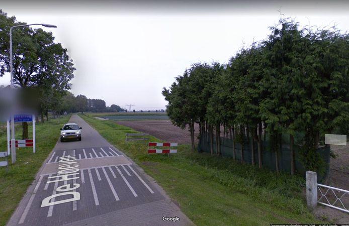 De route Haarsteeg-Elshout, gezien vanaf De Hoeven