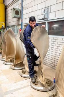 Dit Dordtse bedrijf restaureert de grootste en zwaarste scheepsschroeven ooit in Nederland