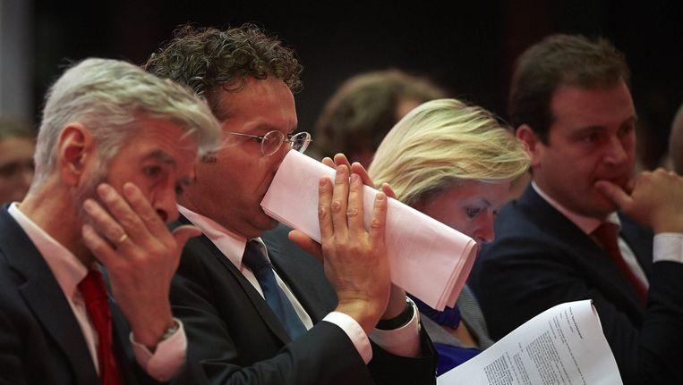 Vlnr. PvdA-ministers Ronald Plasterk, Jeroen Dijsselbloem, Jet Bussemaker en Lodewijk Asscher. Beeld anp