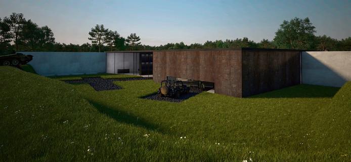 Caption Impressie van het Generaal Maczek Memorial aan de Ettensebaan in Breda.